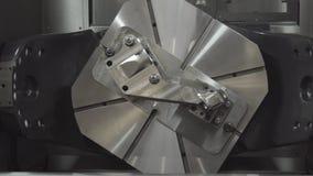 CNC lathe machine Turning machine cutting the metal thread part by lathe cutter. Hi-precision CNC machining royalty free stock photography