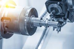 The CNC lathe machine or Turning machine Royalty Free Stock Photos