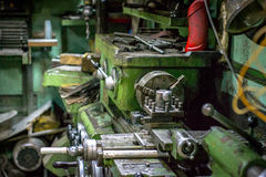 CNC Lathe old. Workroom and CNC Lathe, work theme Stock Photography