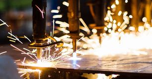 CNC LPG Cutting Royalty Free Stock Image