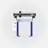 CNC machine Royalty-vrije Stock Afbeeldingen