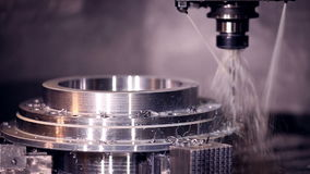 CNC machine automatic drilling. stock footage
