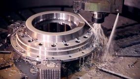 CNC machine automatic drilling.