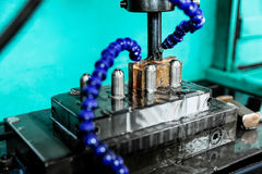 CNC machine closeup Royalty Free Stock Photo