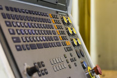 CNC machine control panel Royalty Free Stock Photos