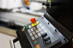 CNC machine control panel royalty free stock photo