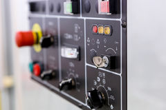 CNC machine control panel Stock Images