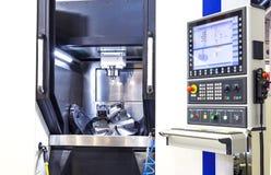 Modern CNC machine control panel. Shallow depth of field. CNC machine control panel. Shallow depth of field royalty free stock photos