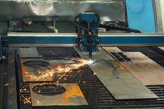 CNC machine for metalworking. In shop royalty free stock images