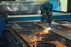 CNC machine for metalworking stock image