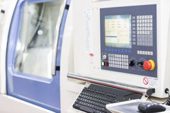 CNC Machine operation control panel closup Stock Image
