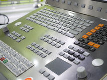 CNC Machine operation control panel closup. CNC Machine control panel closup Stock Images