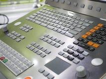 CNC Machine operation control panel closup Stock Images