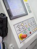 CNC Machine operation control panel closup Royalty Free Stock Photos