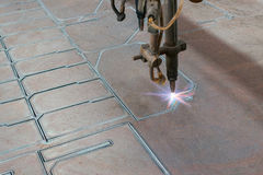 CNC Machine Steel Cutting Royalty Free Stock Photography