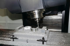 Cnc machine tool Stock Images