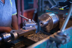 CNC Machine. At Work Place Stock Image
