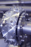 CNC machined part of ION accelerator industrial blue toned Stock Image