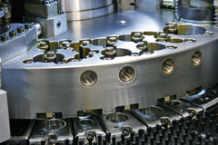 Cnc machinery. Close-up of cnc punching machine Stock Photo