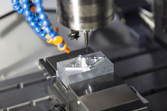CNC machining center cutting mold Stock Image
