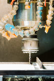 Cnc machining process and manufacturing Stock Photography