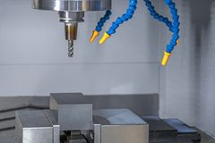 CNC machining and tool milling cutting raw material royalty free stock photos