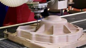 CNC malenmachine De machine van het malen en van de gravure stock video