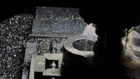 Cnc-malning- eller borrandemaskin stock video