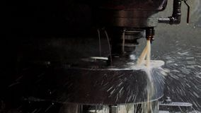 Cnc-malning- eller borrandemaskin stock video