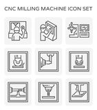 Cnc-malningsymbol Arkivfoton