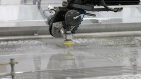 Cnc-Maschine für Wasserstrahl stock footage
