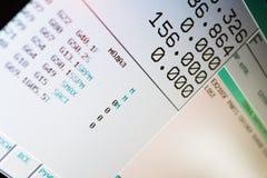 Cnc-Maschine LCD-Bildschirm Lizenzfreies Stockfoto