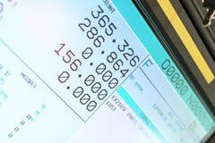 Cnc-Maschine LCD-Bildschirm Lizenzfreie Stockfotografie