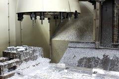 Cnc-Maschinenraum und Werkzeugsatz Stockbild