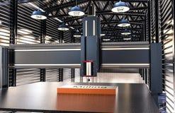 CNC maszyna w magazynowym hangarze Zdjęcie Royalty Free