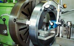 Cnc metal milling lathe machine in metal industry. Cnc metal milling lathe machine in metal industries factory stock photo