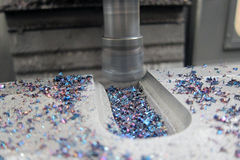 Cnc-Metallvertikalenmaschine Stockbilder