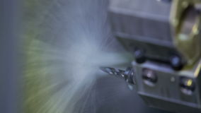 Cnc metalworking industry stock video