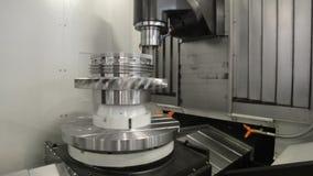 CNC mielenia maszyna produkuje wielki części machining zbiory wideo