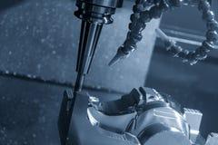 CNC mielenia maszynowy rozcięcie lejni część obrazy stock