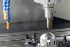 CNC mielenia maszynowy rozcięcie próbki część zdjęcie royalty free