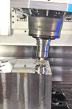 CNC-milling. A photo of CNC-milling of a motor block Royalty Free Stock Image