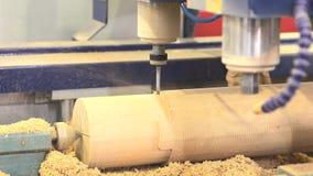 CNC milling copy machine stock footage