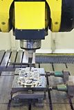 CNC milling cutter. In action Stock Photos