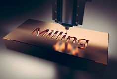 Free CNC Milling Machine. Stock Image - 71773001