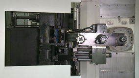 Cnc milling machine, automatic tool change, HD footage,. Cnc milling machine, automatic tool change stock video footage
