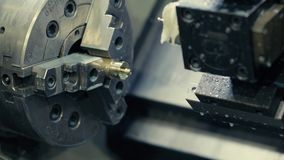 CNC milling machine stock video