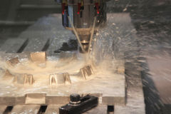 CNC Milling Machine Royalty Free Stock Photos