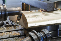 CNC milling machine milling heads. In machine industry Stock Images
