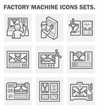 Cnc milling icon Royalty Free Stock Image